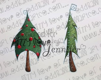 INSTANT DOWNLOAD Whimsical Dancing Trees - Set #3 Image No.338 by Lizzy Love
