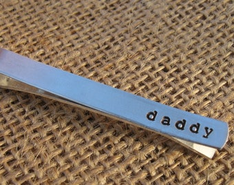 Father's Day Tie Bar - Personalized Tie Bar - Custom Tie Bar - Gift for Him