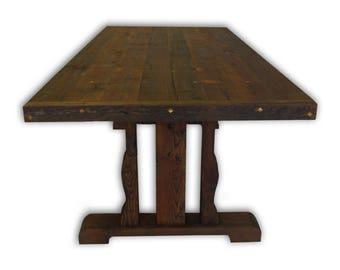 Barnwood Trestle Table -- HBC