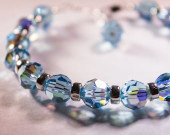 Protection Therapeutic Sacred Energy Infused Swarovski Crystal Healing Bracelet by Crystal Vibrations Jewelry