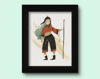 Warrior 10x15 cm print with frame