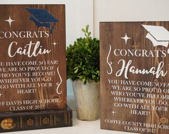 Graduation plaque. Class of 2018 graduation gift. Graduation gift. Graduation wood sign. Custom graduation gift. Custom gradation plaque.