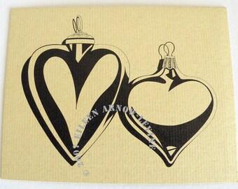 Glass Hearts, Blank Notecard