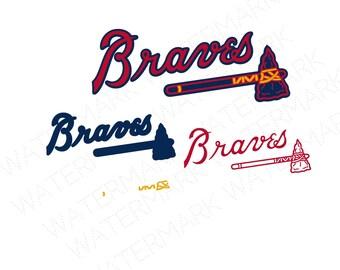 Atlanta Braves Logo Etsy