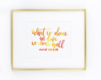 done well in love print
