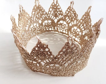 Champagne Gold Baby Crowns