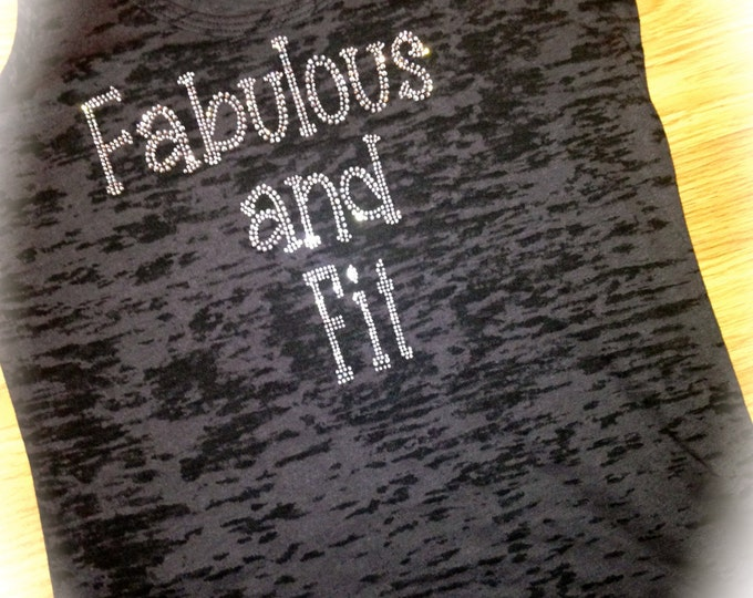 Fabulous and Fit Shirt - burnout racerback tank top - Neon colors - Exercise Clothing -small , medium , large , XL , XXL