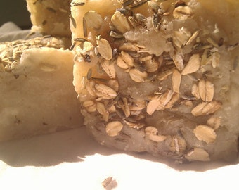 Lavender Oatmeal Vegan Soap, Handcrafted with Essential Oils, Organic Herbs, Handmade Vegan Soap