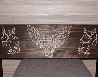 Wooden Frame String Art Owl
