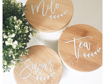 Canister Labels // kitchen labels // labels // pantry labels // canister label // pantry organization // kitchen decal // vinyl stickers