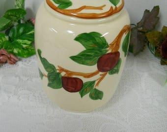 Franciscan Cookie Jar Apples & Cheeries Design
