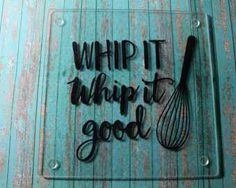 Whip it Whip it Good Glass Cutting Board