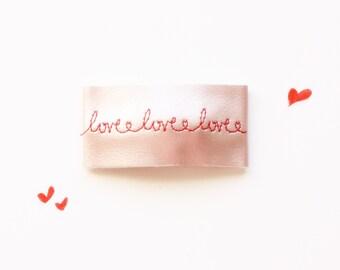 Love <3  Hair Clip - Valentines Hairclip - Hairclip - Vegan LeatherClip