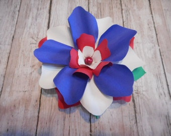 Paper Flower, Gardenia Style, Gift Decoration, 4th of July Theme, Party Decor, Table Decoration,