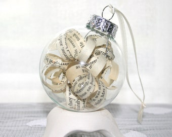 Miss Peregrine's Home for Peculiar Children - Book Ornament - Ransom Riggs - Christmas Ornament Holiday Decorations Home Decor