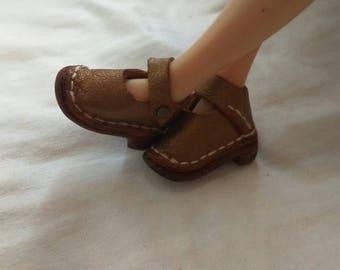 zapatos de cuero autentico para blythe