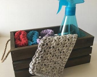 Vintage Crochet Dishcloth (4 Pack)