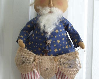 Uncle Sam Doll - Folk Art Uncle Sam Door Doll
