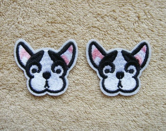 Set of 2 PCS Dog Patches Applique Embroidered Iron on Patch