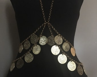 Gold Coin Body Chain
