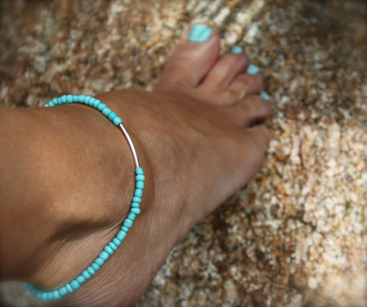 product accessory anklet summer women beach beads foot anklets pc jewelry bracelets for black rope turtle ankle turquoise chain