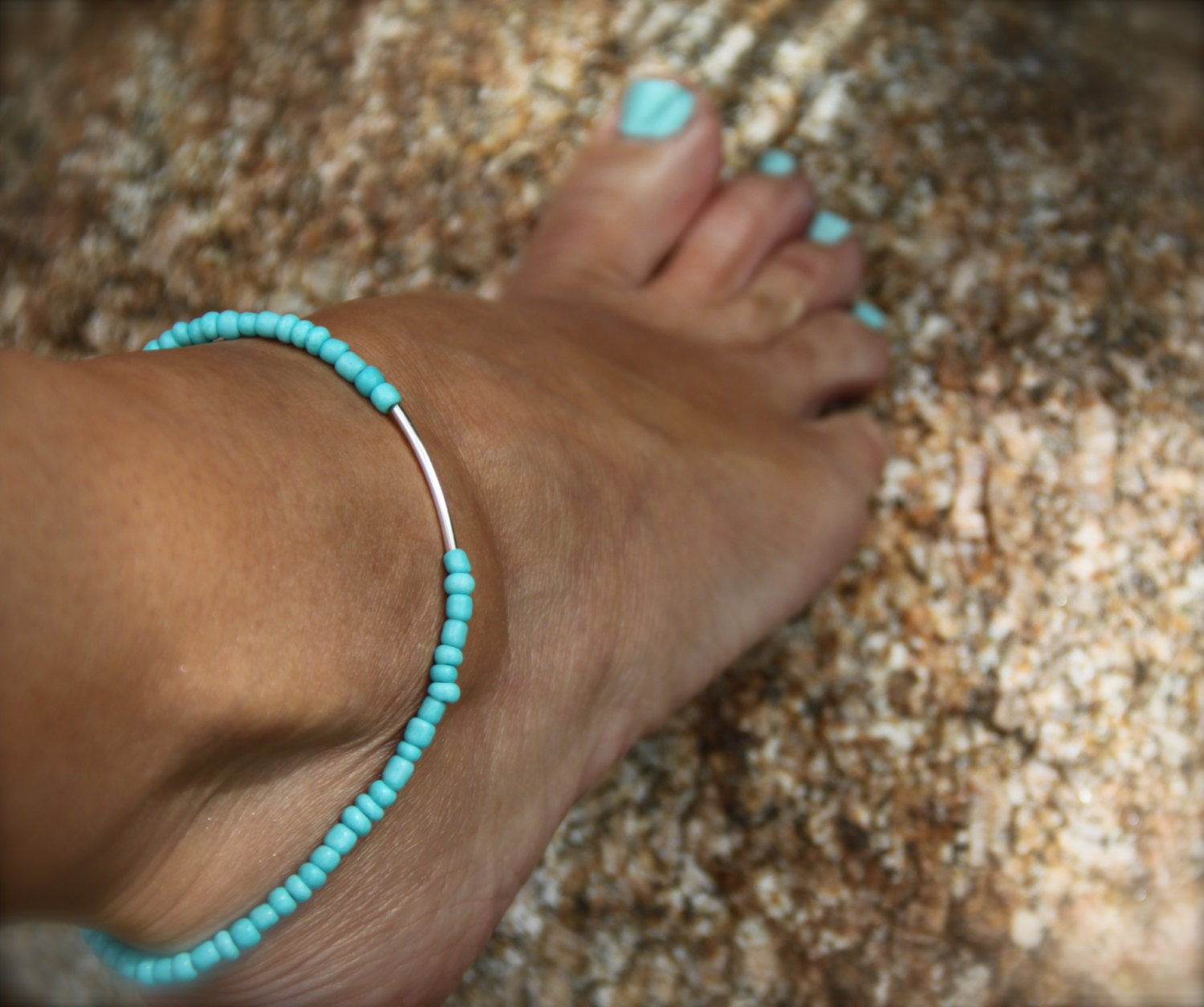 gift bridal boho listing beach silver bracelet fullxfull ankle bracelets wedding blue turquoise something friendship chain anklet il jewelry body sterling