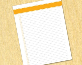 "Printable List ""Mini Dots"" Style - Neon Orange (Letter Size)"
