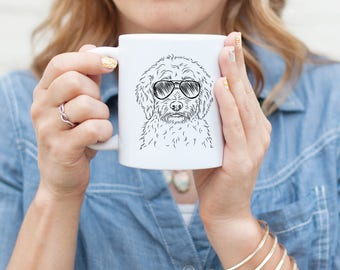Teddy the Labradoodle Mug - Gifts For Dog Owner, Labradoodle Art, labradoodle Gift