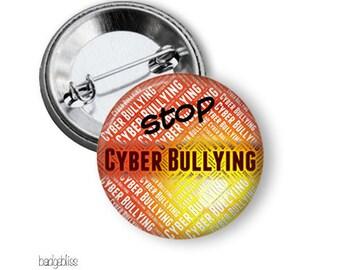 Bulk Buys Stop Cyber Bullying pinback button badges