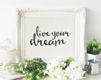 Dorm Decor - Black & White Print - Printable Art - Printable Quote - Inspirational Quote - Digital Typography Quote - Motivational Print