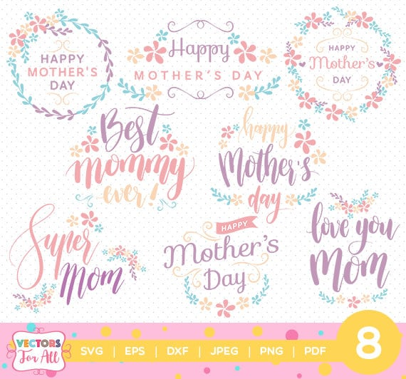Mother's Day Quotes SVG Mother Day SVGs Monogram Font