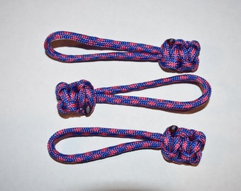 Paracord zipper pulls 3pcs cotton candy camo