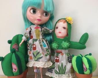 Robe imprimée de cactus pour Blythe