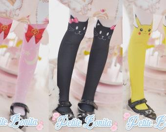Sailor Moon, Black Cat, Pikachu Stocking for MDD/MSD/BJD1/4