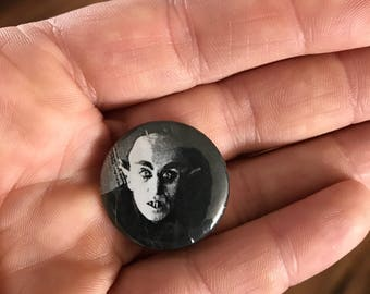Nosferatu vampire Halloween one inch button