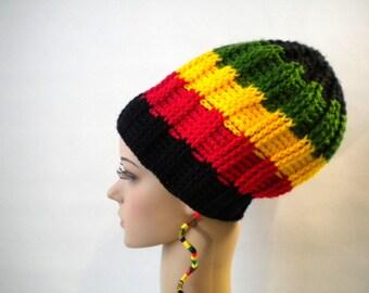 Rasta clothing, reggae tam, dreadlocks crown, rasta tam, reggae party