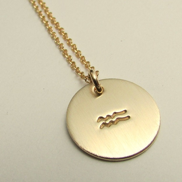 aquarius necklace zodiac amorium silver necklaces
