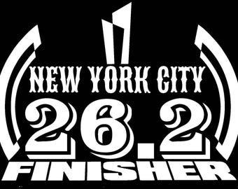 2017 any year New York City NYC Marathon Decal iPad,Luggage,Suit case,CarWindow