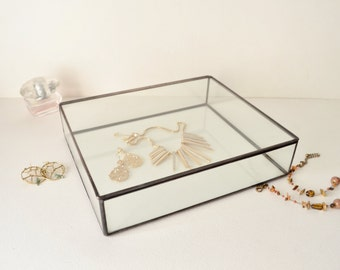 Large glass box Etsy