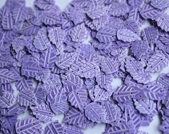 50 Purple leaf shape sequins /KBIS206