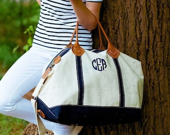 FREE MONOGRAMMING, Monogrammed Weekender Bag, Personalized Overnight Bag, Weekend Travel Bag, Large Tote Bag, Carry On Bag, Genuine Leather