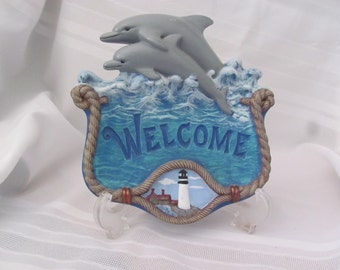 Dolphin Welcome Plaque