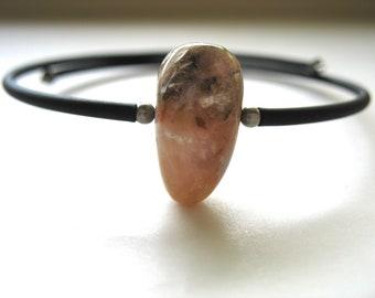 Pink Peruvian Opal Bracelet - Stone Cuff Bracelet - Pink Peruvian Opal -  Handmade Artisan Opal Jewelry
