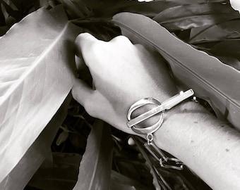 Silver bracelet, minimal bracelet, chain, chain bracelet, minimal