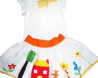 Children's / Babies Garden  Skirt and T-shirt Outfit