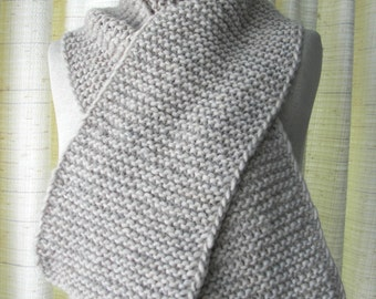 Hand Knit WARM Scarf in 100% Roving SOFT WOOL / Extra Long Knit Scarf / Thoughtful Gift
