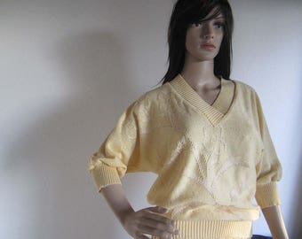 Vintage 60s fine knit sweater knit shirt sweater S / m