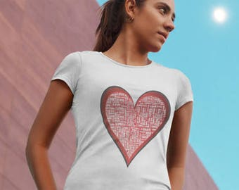 Lyrical Apparel Hearts Of Love WomenS Tee