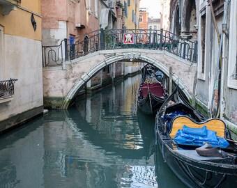 Venice Canal Print, Travel Photography, Italy Photography, Venice Photography, Gondola Ride Photo, Italy Photo