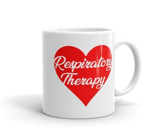 Respiratory Therapy Red Heart 11 oz Mug for RRT Respiratory Therapist Gift